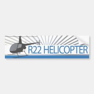 Aviones del helicóptero etiqueta de parachoque