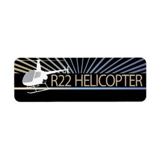 Aviones del helicóptero etiqueta de remite