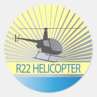 Aviones del helicóptero etiqueta redonda