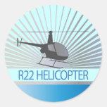 Aviones del helicóptero pegatina