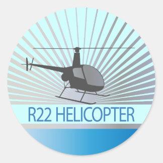 Aviones del helicóptero pegatina redonda