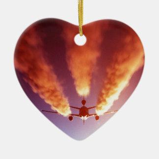 Aviones del reaprovisionamiento KC-10 Adorno De Cerámica En Forma De Corazón