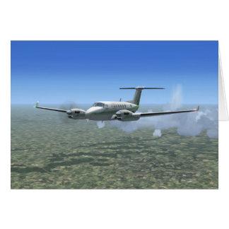 Aviones del turbopropulsor del Rey-Aire Tarjeta De Felicitación