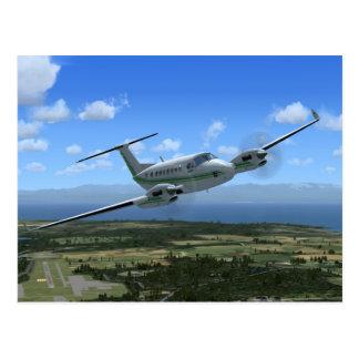 Aviones del turbopropulsor del Rey-Aire Postales