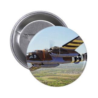 Aviones del vintage de B-25 Mitchell Pin Redondo De 2 Pulgadas