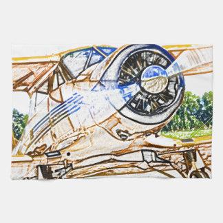 Aviones del vintage de Beachcraft Staggerwing Toalla De Cocina