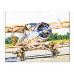 Aviones del vintage de Beachcraft Staggerwing Postal