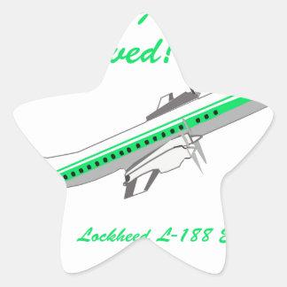 Aviones del vintage de Lockheed Electra Pegatina En Forma De Estrella