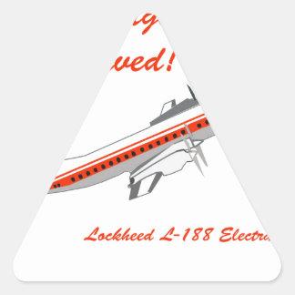 Aviones del vintage de Lockheed Electra Pegatina Triangular