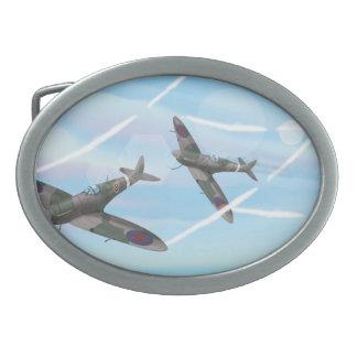 Aviones del vintage hebillas cinturon ovales