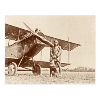 Aviones del vintage postal