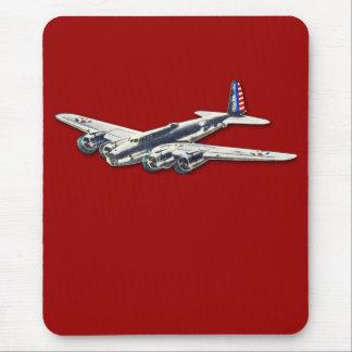 Aviones del vintage WWII los E.E.U.U. Alfombrillas De Ratones