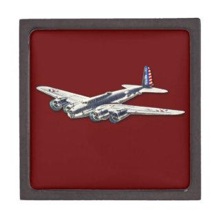 Aviones del vintage WWII los E.E.U.U. Caja De Joyas De Calidad