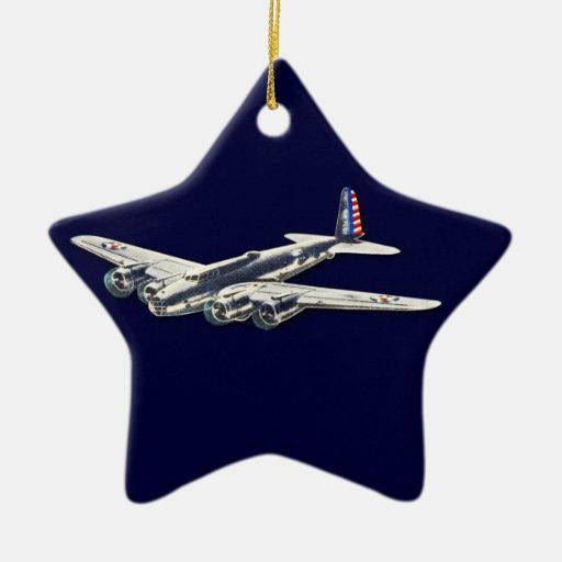 Aviones del vintage WWII los E.E.U.U. Adorno Para Reyes