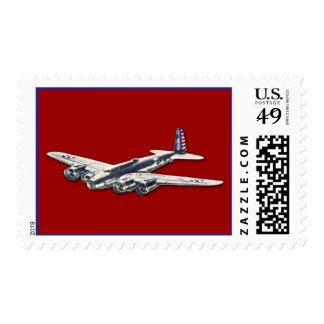 Aviones del vintage WWII los E.E.U.U. Estampillas