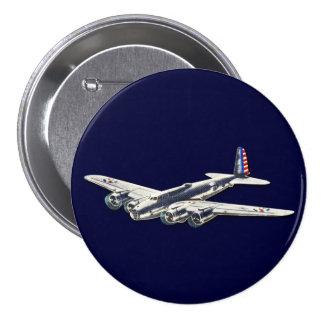 Aviones del vintage WWII los E.E.U.U. Pin Redondo De 3 Pulgadas