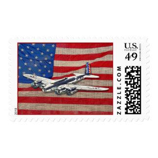 Aviones del vintage WWII los E.E.U.U. Sello Postal