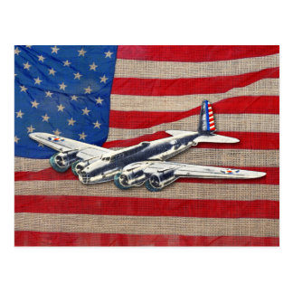Aviones del vintage WWII los E.E.U.U. Tarjetas Postales