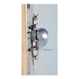Aviones estupendos del cargo de la turbina del tarjeta fotografica personalizada