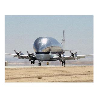 Aviones estupendos del cargo de la turbina del tarjetas postales