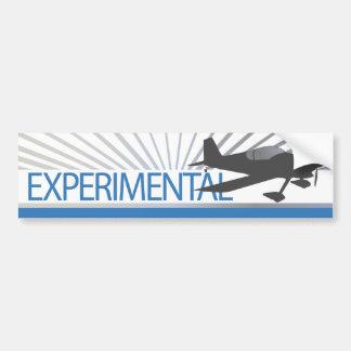 Aviones experimentales etiqueta de parachoque