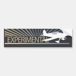 Aviones experimentales pegatina de parachoque