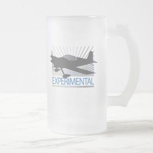 Aviones experimentales taza de cristal