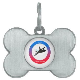aviones f22 placa mascota