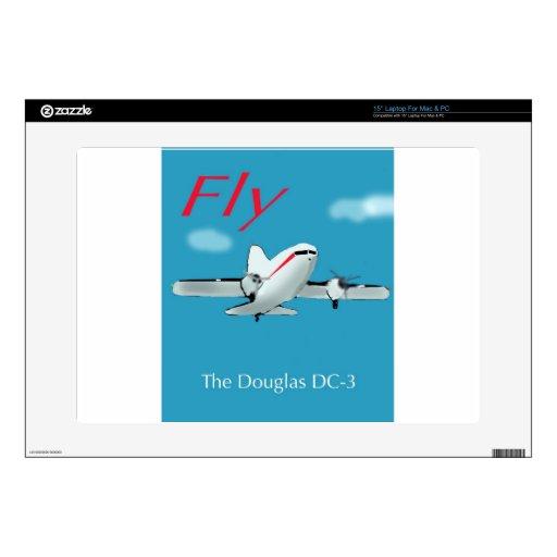 Aviones famosos de Douglas DC3 Skins Para Portátiles