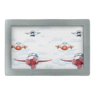 aviones hebillas cinturon rectangulares