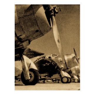 Aviones impávidos del bombardero del SBD de Tarjeta Postal