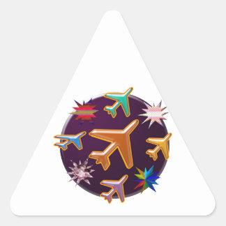 Aviones Pegatina Triangular