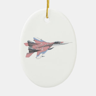 Aviones rusos de la caza a reacción del MiG Ornamentos Para Reyes Magos