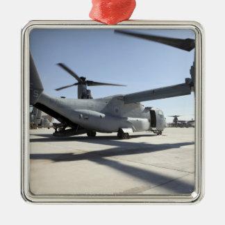 Aviones tiltrotor 2 de V-22 Osprey Adorno Cuadrado Plateado