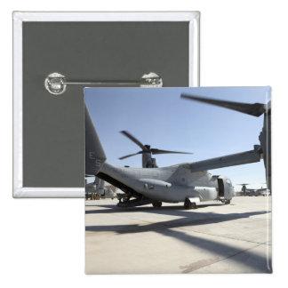 Aviones tiltrotor 2 de V-22 Osprey Pin Cuadrado
