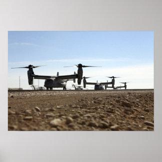 Aviones tiltrotor de V-22 Osprey Posters