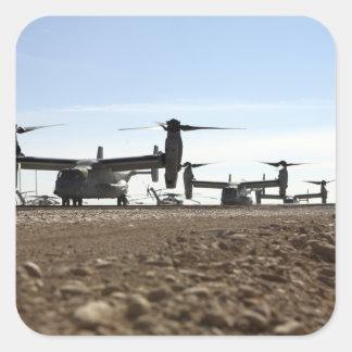 Aviones tiltrotor de V-22 Osprey Pegatina Cuadrada