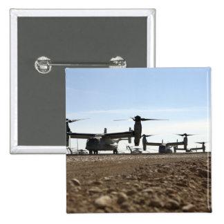 Aviones tiltrotor de V-22 Osprey Pin Cuadrado