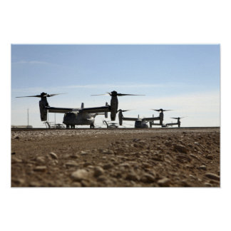 Aviones tiltrotor de V-22 Osprey Póster