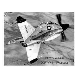 Aviones VTOLES de Convair XFY-1 Pogo Tarjeta Postal