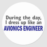 AVIONICS ENGINEER During The Day Stickers
