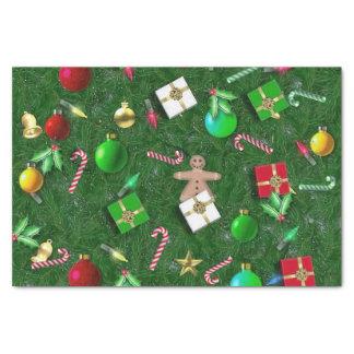 Avíos del navidad papel de seda pequeño
