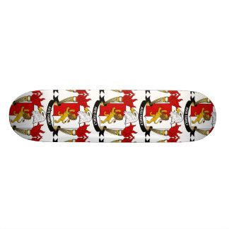 Avis Family Crest Custom Skate Board