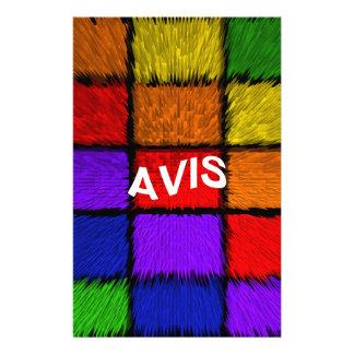 AVIS ( female names ) Stationery