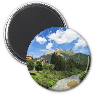 Avisio stream, val di Fassa, Italy 2 Inch Round Magnet