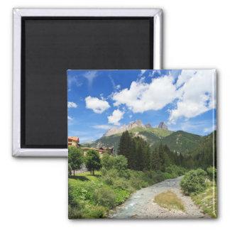 Avisio stream, val di Fassa, Italy 2 Inch Square Magnet