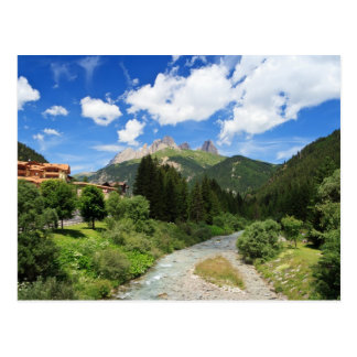 Avisio stream, val di Fassa, Italy Postcard
