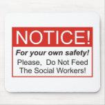 Aviso/asistente social alfombrillas de raton