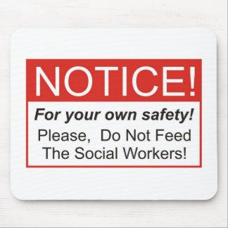Aviso/asistente social mouse pads