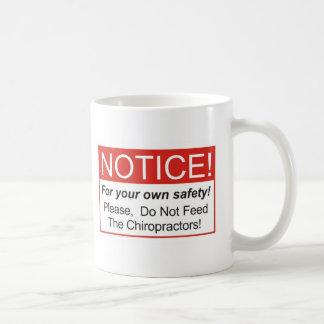 Aviso Chiropractor Taza De Café